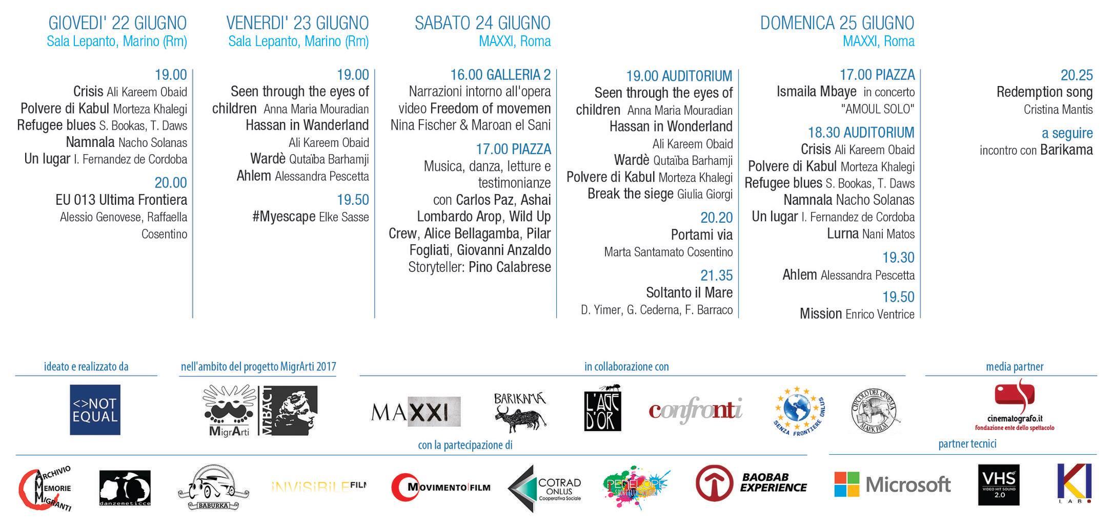 Migrarti Cinema Marino 2017