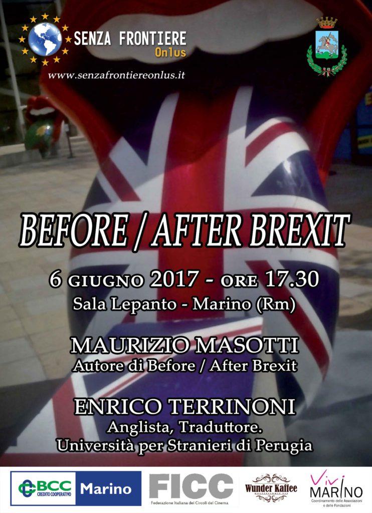 BEFORE / AFTER BREXIT @ SALA LEPANTO  | Marino | Lazio | Italia