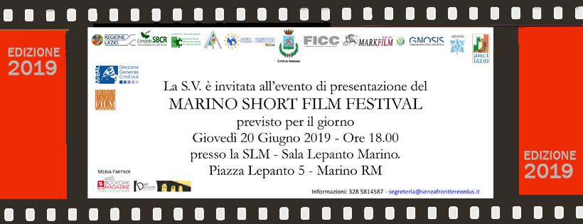 Evento di presentazione del Marino Short Film Festival @ SLM - Sala Lepanto Marino | Marino | Italia